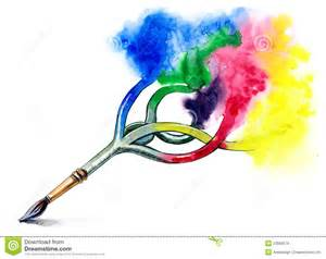 Clip Art of Paint Brushes