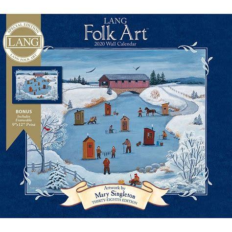 lang folk art special edition wall calendar