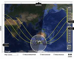 Why does the ISS track appear to be sinusoidal? - Space ...