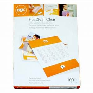 5mil gbc heatseal clear letter size laminating pouches 100pk With letter size laminating pouches