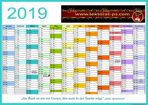 lektorat kalender jahresplaner kostenloser