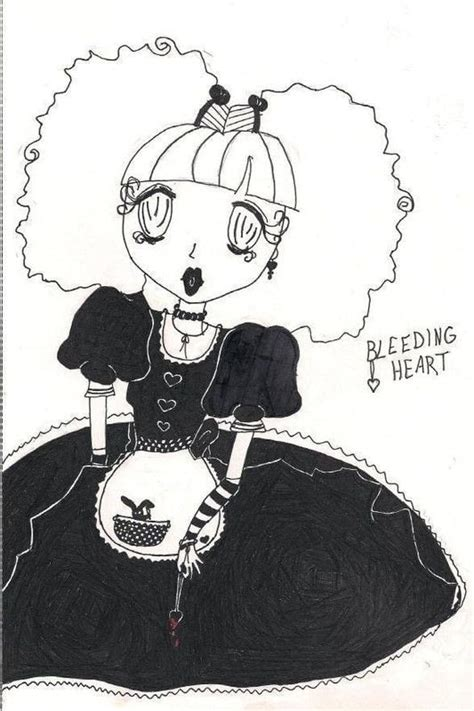 bleeding heart  manga drawing drawing  cut
