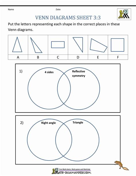 venn diagrams worksheet beautiful venn diagram worksheets