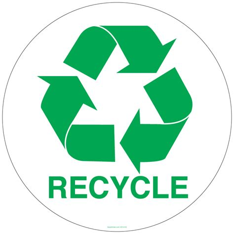 The Of Recycling by 12 Inch Circle Recycling Symbol Sticker