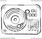 Record Player Vinyl Clipart Sketched Clip Tradition Sm Law Collc0169 sketch template