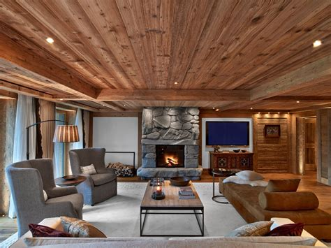 Cottage Style Bedroom Set by Swiss Alpine Luxury At The Alpina Gstaad Hotel