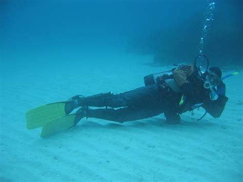 le de plongee sous marine plongeur tranquille plage de portissol var mediterranee