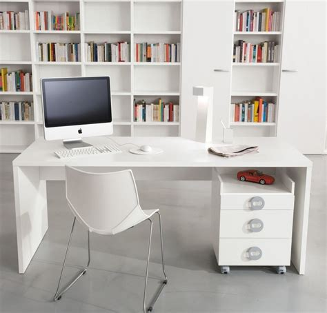 white office desk furniture update your modern desk design in your home