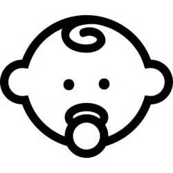 baby scrapbook album bambino contorno testa con ciuccio scaricare icone gratis