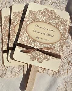personalized wedding favor fans vintage lace w ribbon by With fans for wedding favors personalized