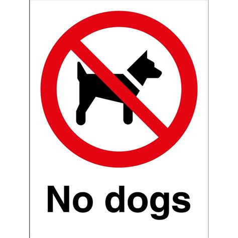 pet barrier no dogs signs from key signs uk