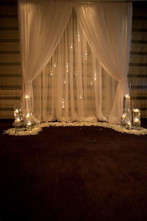 dreamy indoor wedding ceremony backdrops deer pearl