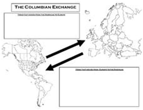 columbian exchange worksheet the columbian exchange 9th 12th grade worksheet lesson planet