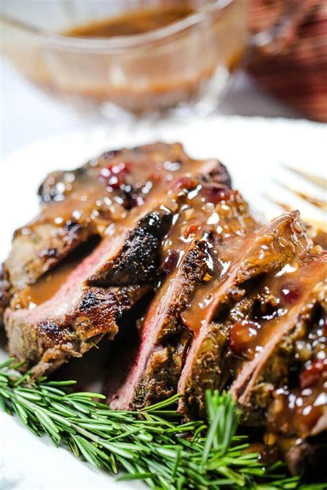 Chef ming's sous vide beef tenderloin with garlic dijon pan sauce. This Beef Tenderloin recipe with Port Wine Cranberry Sauce ...