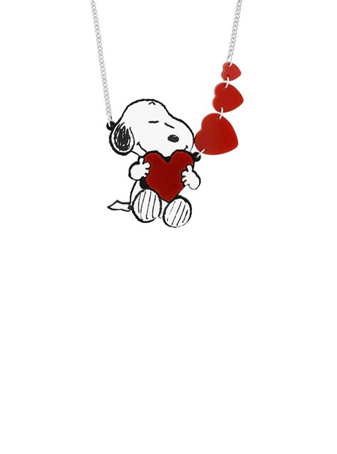 snoopy love heart necklace tatty devine tatty devine