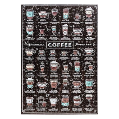 This puzzle has been completed. Coffee Lover's 500pc Jigsaw Puzzle | Espresso yourself with a coffee puzzle!