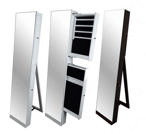 Large Full Length Floor Standing Mirror Jewellery Cabinet