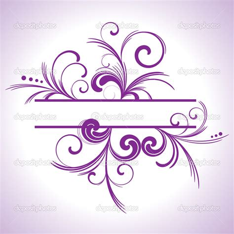 Purple Swirls Border Clip Art