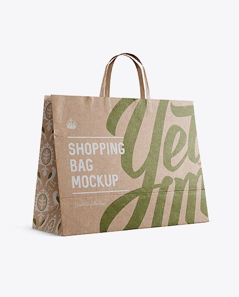 World's best curated collection of mockups for designers. Kraft Paper Shopping Bag PSD Mockup Halfside View Eye ...