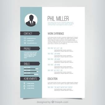 Graphic Designer Cv Vector Free by Graphic Designer Resume Template Vector Free