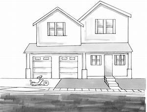 Simple Pencil Sketches Of Houses Simple House Drawing ...
