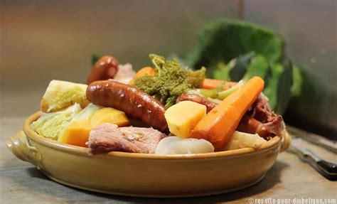 recette de cuisine pour diabetique potée auvergnate aux 2 choux