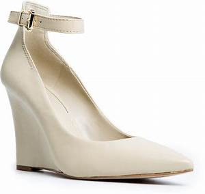 White Wedge Heels With Ankle Strap