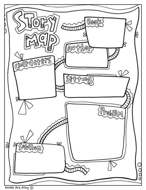 story map graphic organizer  classroom doodles
