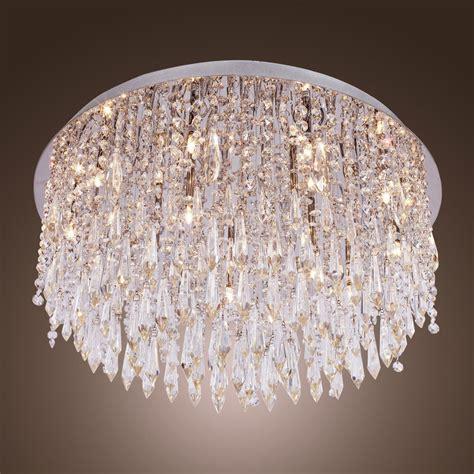 Flush Chandeliers by Modern Beaded Ceiling Chandelier Lighting L