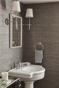 inspirational powder room designsbrettvdesignblog With grasscloth wallpaper in bathroom
