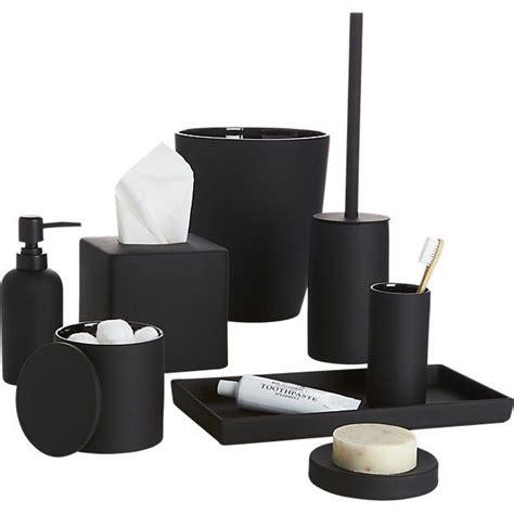 rubber coated black bath countertop accessories bathroom