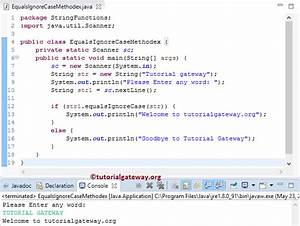 java string equalsignorecase method With java string template