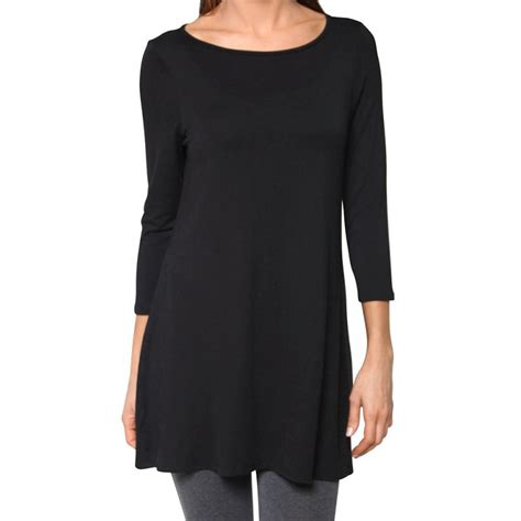 Boat Neck Tunic Tops by Womens Dolman Top Boat Neck 3 4 Sleeve Tunic Tops