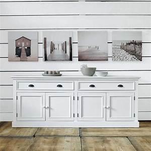 Buffet Blanc Maison Du Monde : buffet 4 portes 4 tiroirs blanc home pinterest maison du monde bois blanc et en bois ~ Teatrodelosmanantiales.com Idées de Décoration