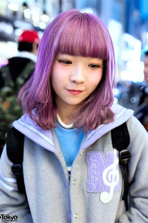 cute purple hair  harajuku tokyo fashion news