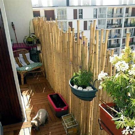 Bambus Sichtschutz Balkon by Bamboo Balcony Privacy Screen Ideas With Plants Carpets