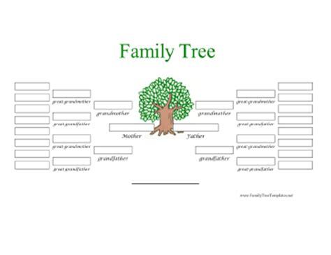 Family Tree Template Family Tree Template 5 Generations 5 Generation Family Tree In Color Template