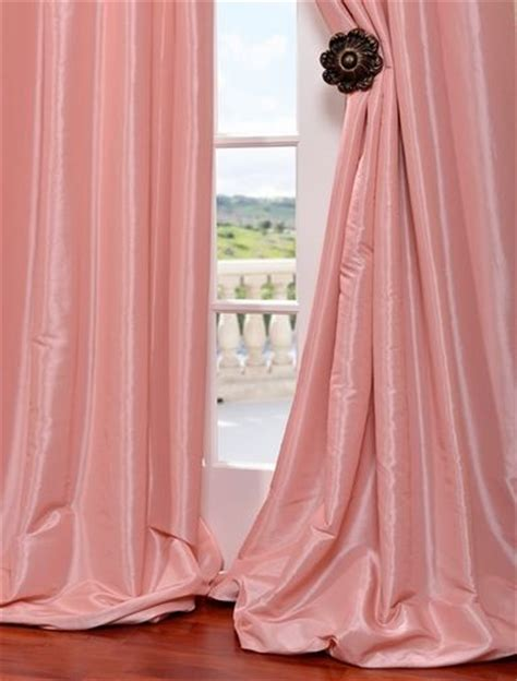 flamingo pink faux silk taffeta curtain s bedroom