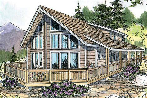 A-Frame House Plans - Gerard 30-288 - Associated Designs