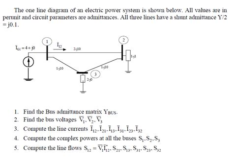 Solved The One Line Diagram Electric Power System