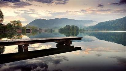 Guatemala Dock Lake Landscape Water Wallpapers Nature