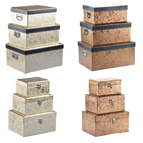 Deko Karton Mit Deckel by Aufbewahrungsbox Mit Deckel Gold Silber Deko Box Kiste