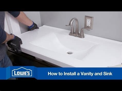 how to attach sink to vanity how to install a bathroom vanity youtube