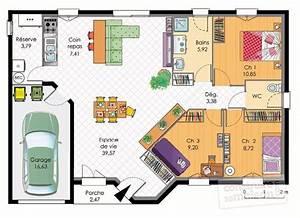 maison plain pied detail du plan de maison plain pied With maison rez de chaussee 0 maison de plain pied 4 detail du plan de maison de plain