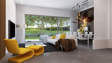 yellow  apartments  flaunt yellow accents