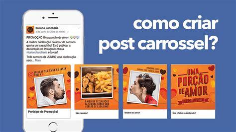 como criar post em formato carrossel  facebook rapido