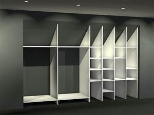 Comment Fabriquer Un Dressing : meuble penderie dressing en sous pente idcoop ~ Melissatoandfro.com Idées de Décoration