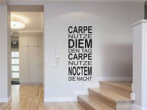 Wandtattoo Carpe Noctem : wandtattoo carpe diem und carpe noctem ~ Sanjose-hotels-ca.com Haus und Dekorationen