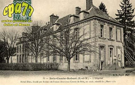 carte postale ancienne de brie comte robert 77 l