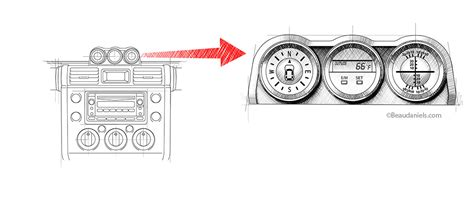 technical illustration beau  alan daniels toyota fj